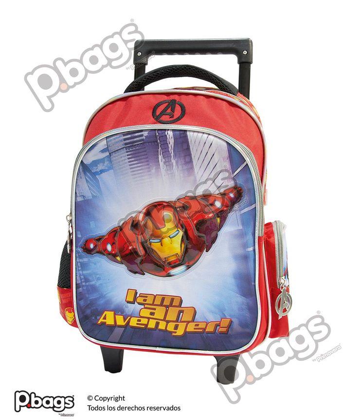 """Morral 13"""" Con Ruedas Ironman http://pbags.co/product/morral-13-iron-man-con-ruedas-p-bags-copy/"""