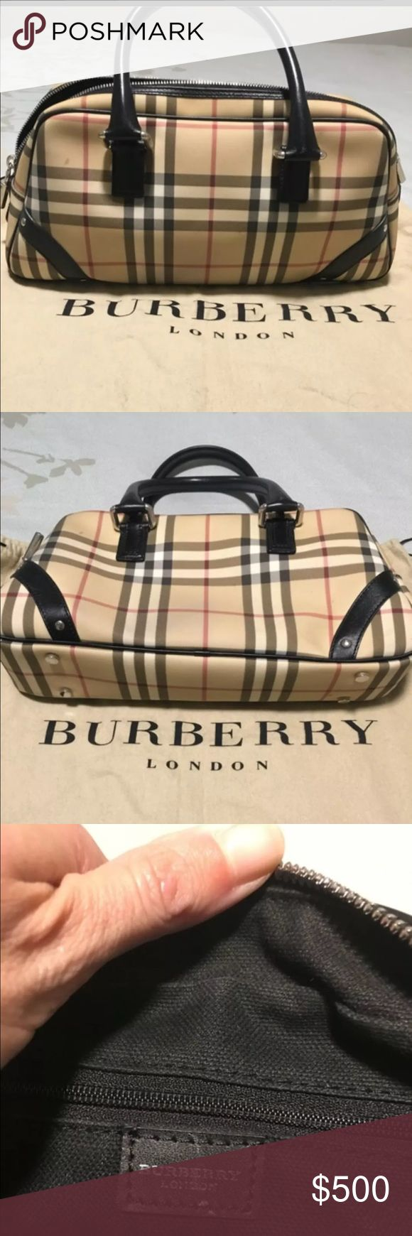 100% Authentic Burberry handbag Burberry bag. Gently used (only a few times). Zipper is still tight as it hasn't been used much. Has one small blemish that may be able to be removed. Purchased at Nordstrom full price. Burberry Bags Satchels