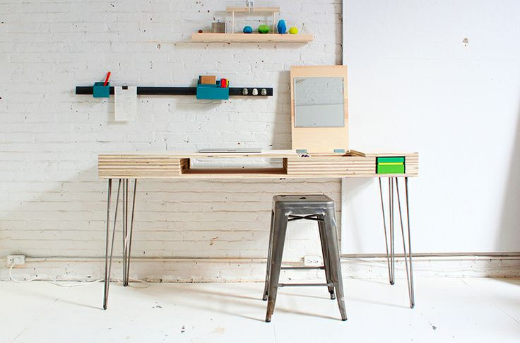 A DIY Desk That Can Organize Your Life: Diy'S, Diy Desks, Flip Desks, Modern Diy, Cool Desks Ideas, Single Sheet, Homemade Modern, Diy Projects, Diy Flip