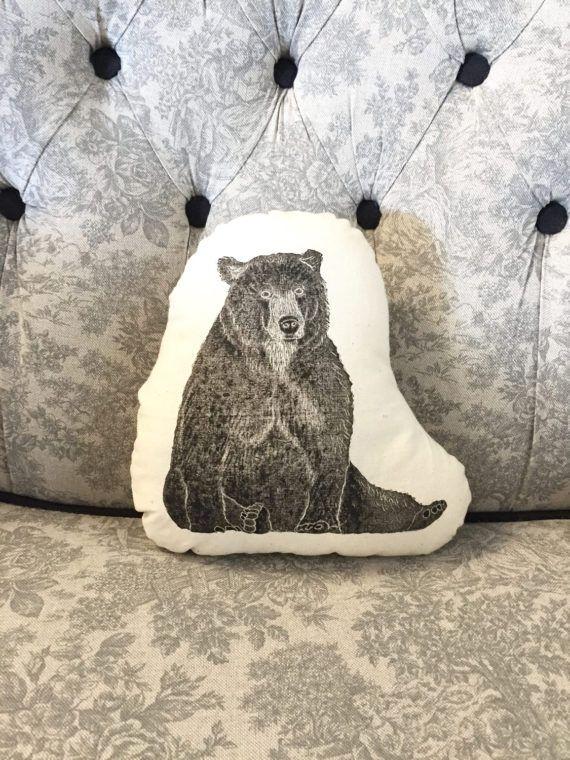 Brown Bear cushion Bear plushie Grizzly bear Home decor