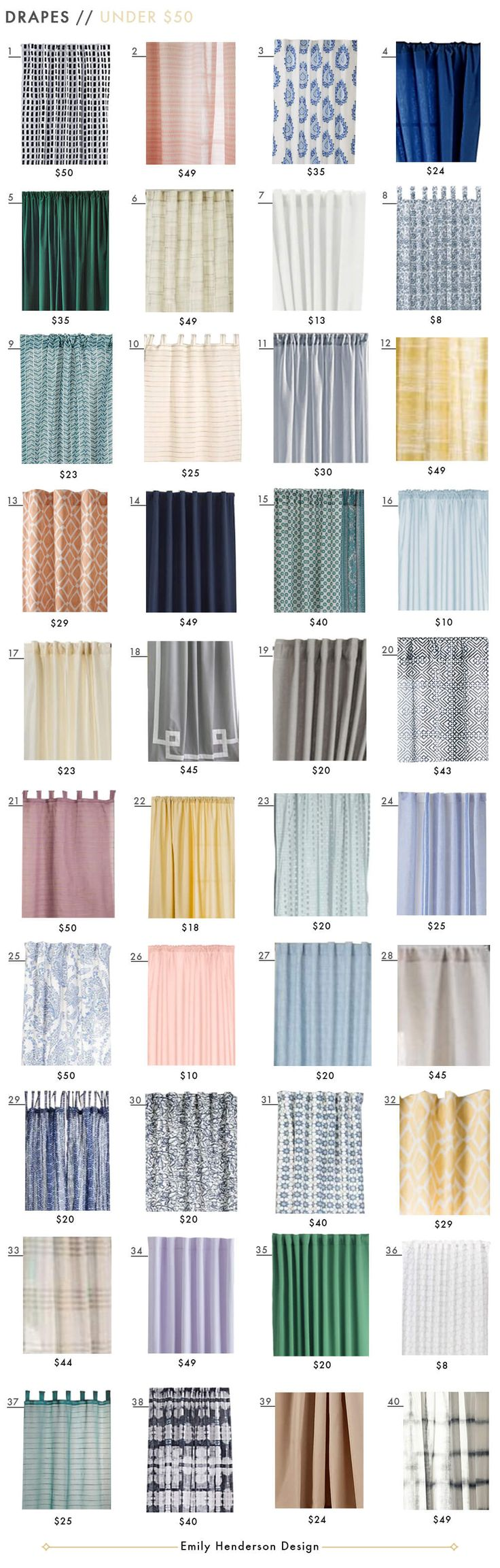 Green curtains crossword - Budget Friendly Ready Made Curtain Roundup Emily Henderson