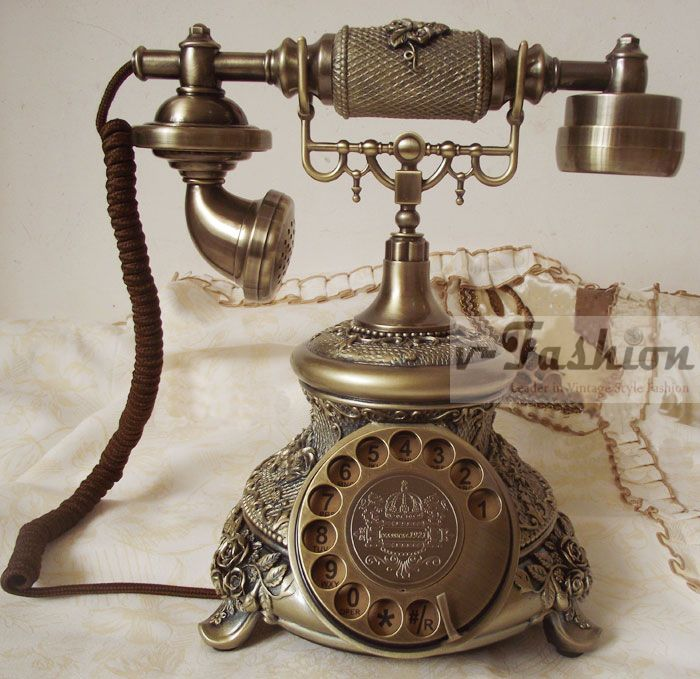 vintage telephone | Vintage Rotary Phones 20'S European Antique Style Telephone Ornate ...