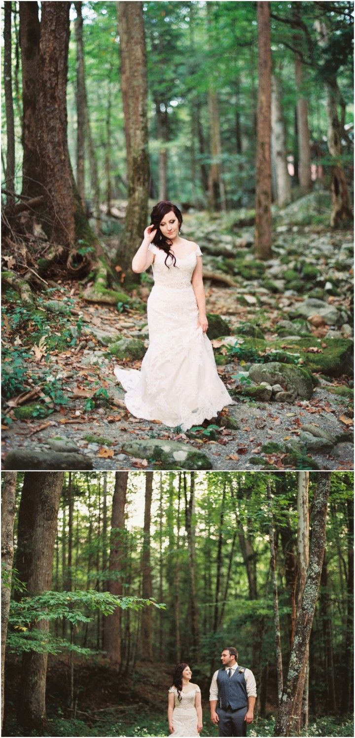 Woodland wedding in the Smoky Mountains on film.