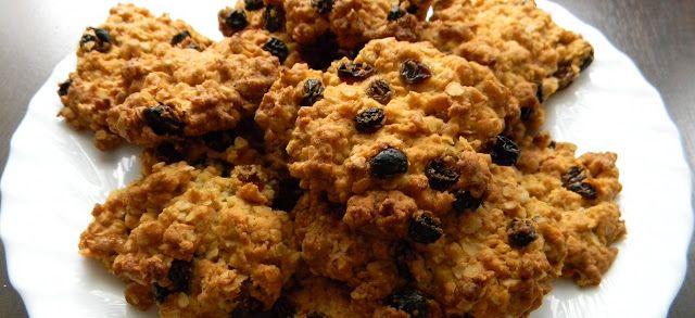Kuchnia bez glutenu: Ciasteczka owsiane z rodzynkami