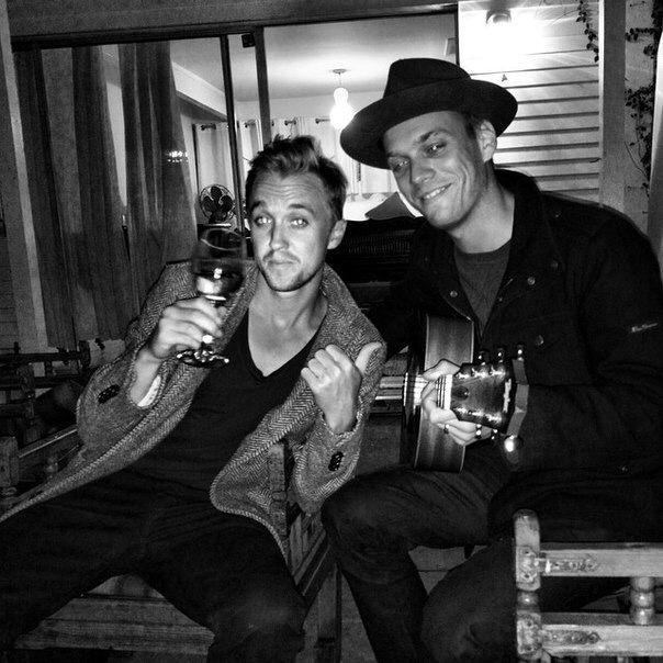 Tom Felton and Jake Abel
