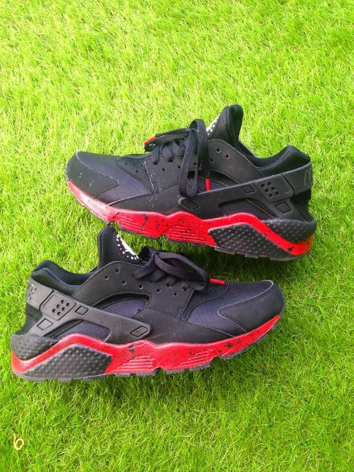 info for 39328 62f25  Huarache  Black  Red  Rouge  Noir   Huaraches