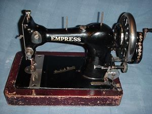 Empress.Serial No. 486238.   Made around 1933. The Empress was sold through the Army & Navy Stores Ltd in the 1930's It sold for about half the price of the standard Jones machine.