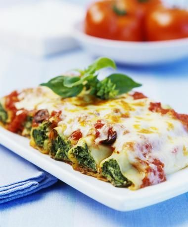 Cannelloni met spinazievulling