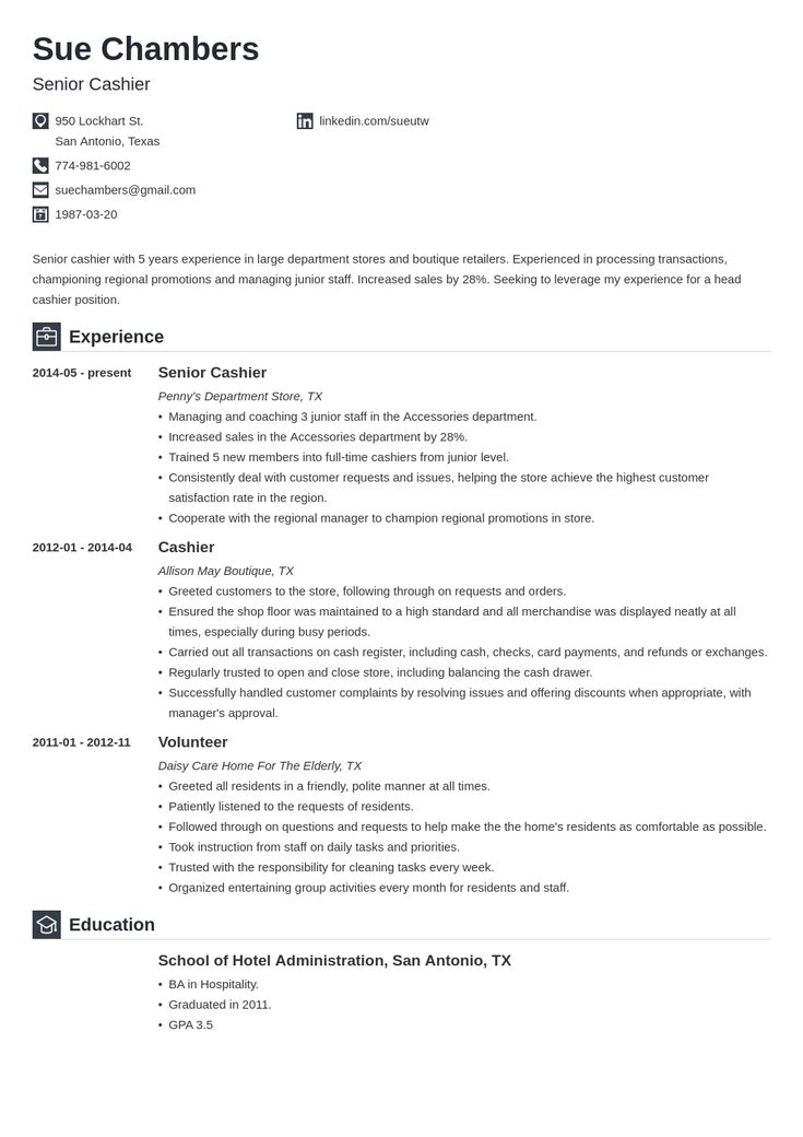 cashier resume template iconic  resume examples