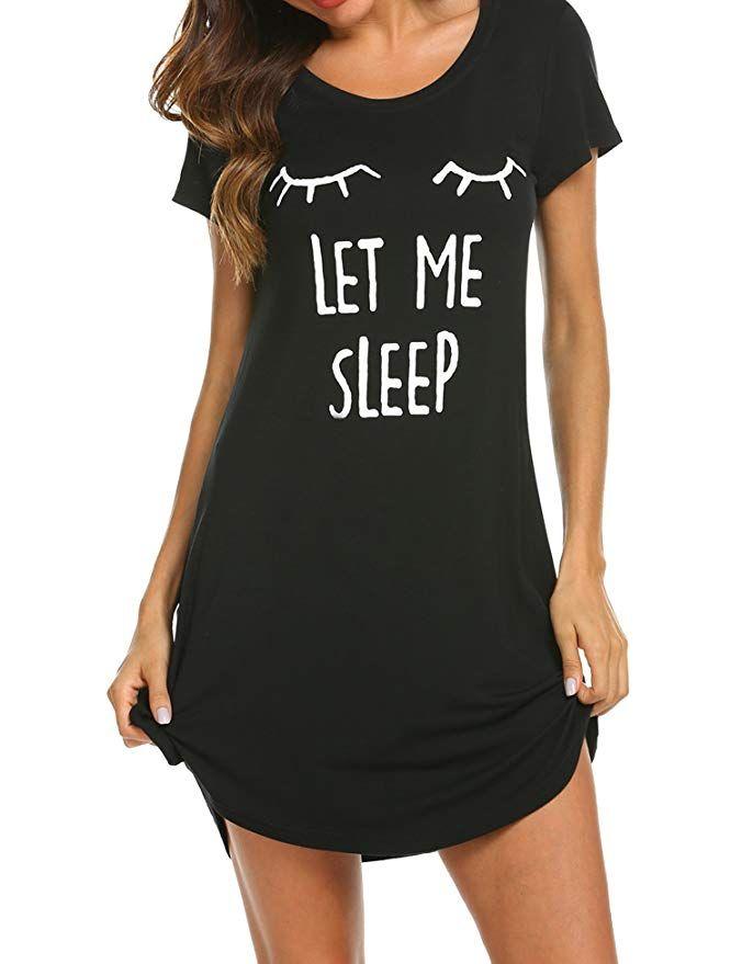 Cotton Night dress for Women pjs Nightgown Black Women/'s Sleepwear Night Shirt