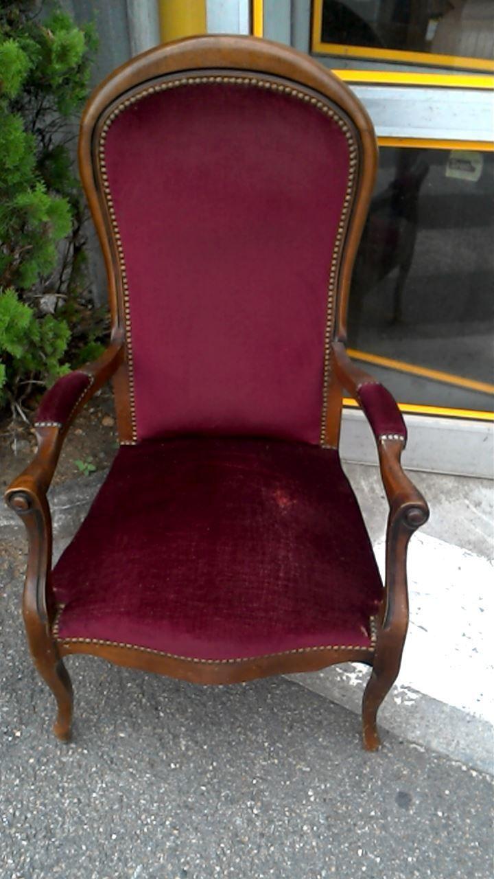 fauteuil st voltaire bordeaux duoccasion troccom with fauteuil voltaire maison du monde. Black Bedroom Furniture Sets. Home Design Ideas