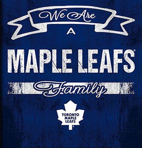 NHL Family Cheer Framed Art - Toronto Maple Leafs