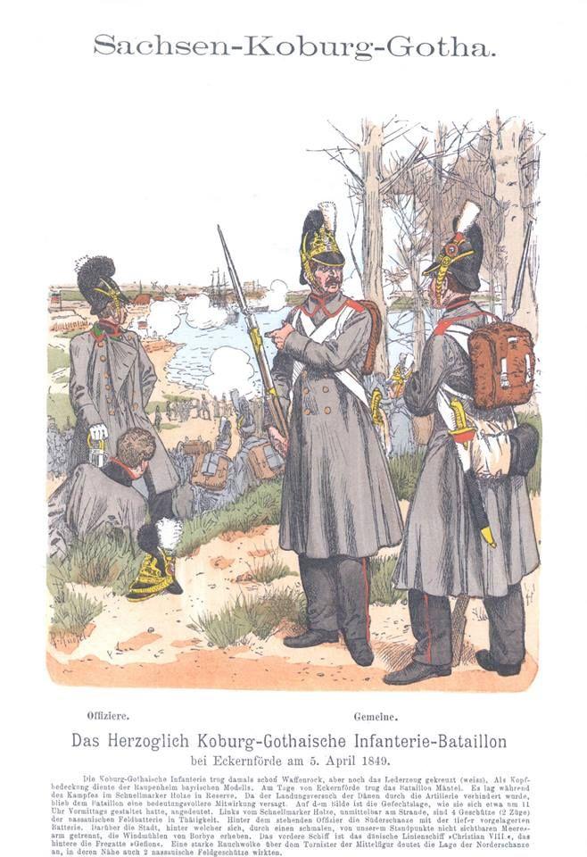 band IX #47 - Sachsen-Coburg-Gotha. Herzoglich Coburg-Gothaisches Infanterie-Bataillon bei Eckernförde am 5. April 1849.