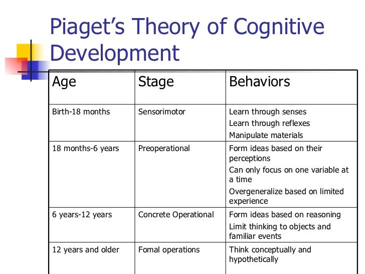 cognitive development in early childhood - Google Search