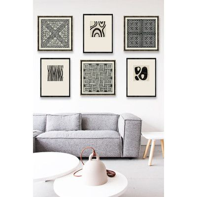 Melissa Van Hise Woodblocks II Framed Graphic Art | AllModern