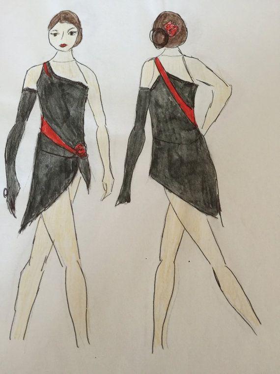Ice Dance Dress/ Tango Dress /Paso Doble Dress