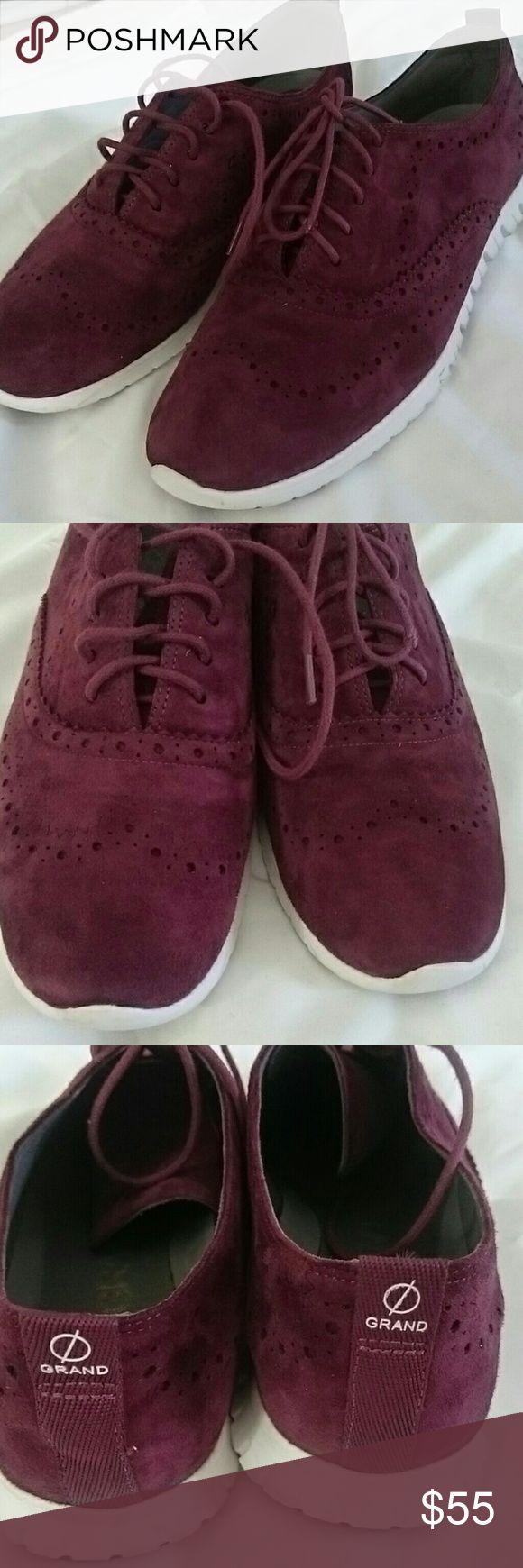 Cole Haan Zero Grand Burgundy Perfect shape gently used. The lace has a tiny damage not visible. Cole Haan Shoes