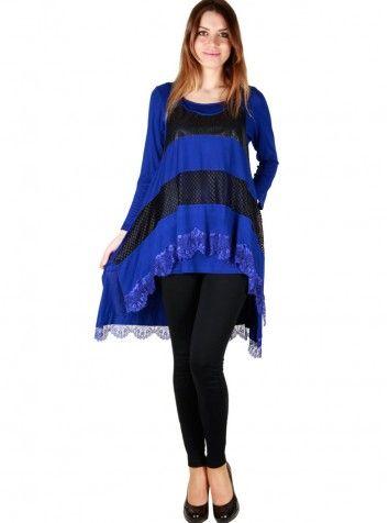 Bayan Dantelli Saks Bluz Özel Tasarım