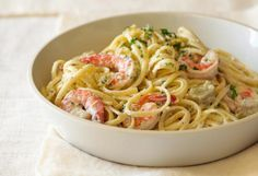 This top-rated recipe is a natural combination of shrimp, garlic, and butter, tossed with angel hair pasta and Parmesan cheese. Add a salad and it's a perfect dinner for two.