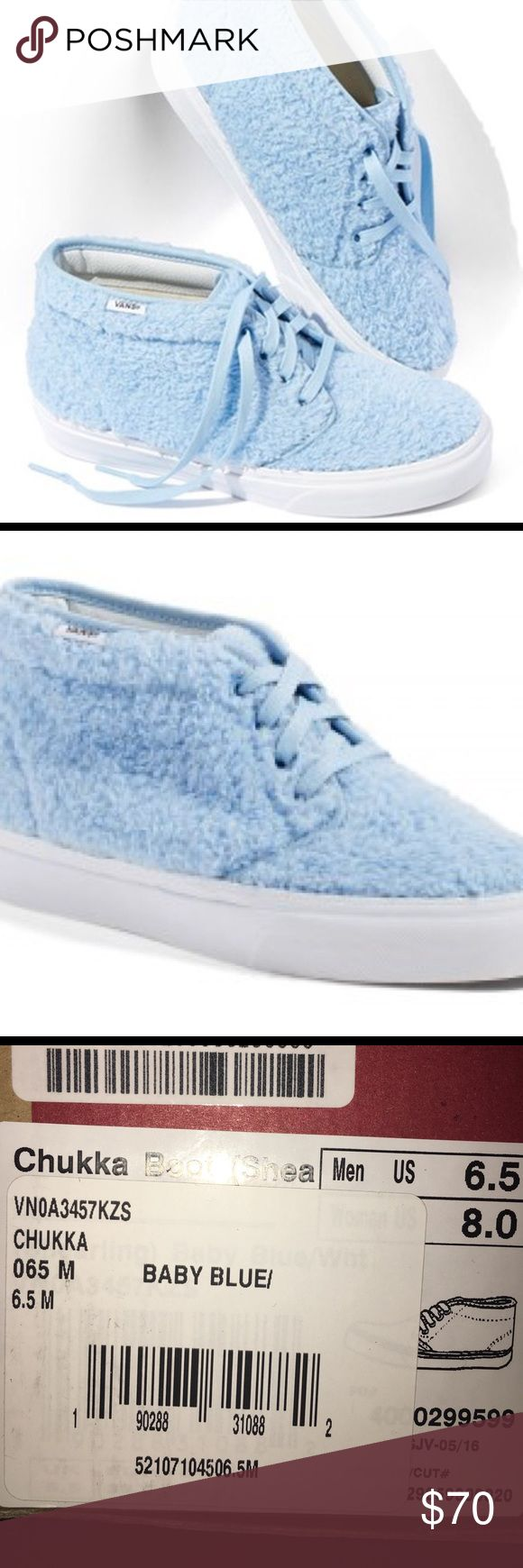 NordstromxVans: Chukka Sneaker (Faux Shearing) New. Never worn Chukka Fuzzy High top Vans. Vans Shoes Sneakers