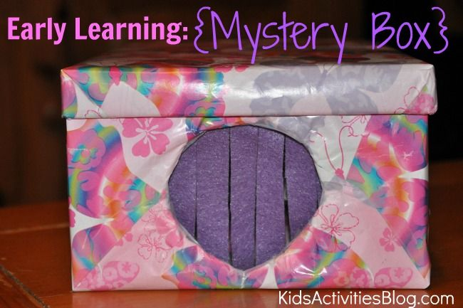 Super cute idea for a mystery box learning activity from Kids Activities Blog