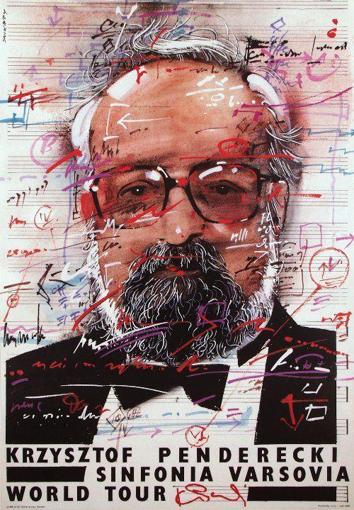 Krzysztof Penderecki by Waldemar Swierzy