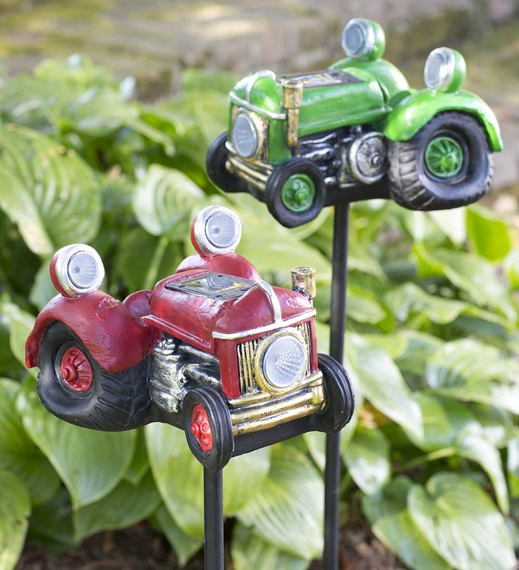 Tractor Garden Stakes : Best solar glow accents lights lanterns images on
