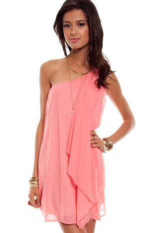 Flutter By Dress in Peach $40 at www.tobi.com
