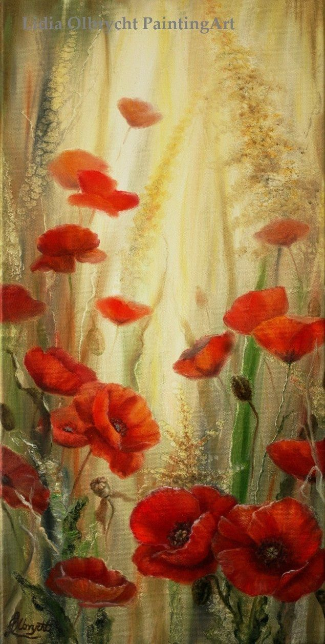 Red Poppies in Nature by Lidia Olbrycht /Poland