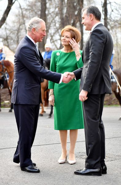 Prince Charles Photos Photos - Prince Charles, Prince of Wales greets Crown Princess Margareta of Bucharest and Prince Radu of Bucharest during a Tea with the Romanian Royal Family on the second day of his nine day European tour on March 30, 2017 in Bucharest, Romania. - The Prince of Wales Visits Romania - Day 2
