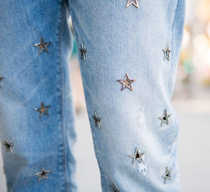 Sydne Style wears Hudson star embellished jeans
