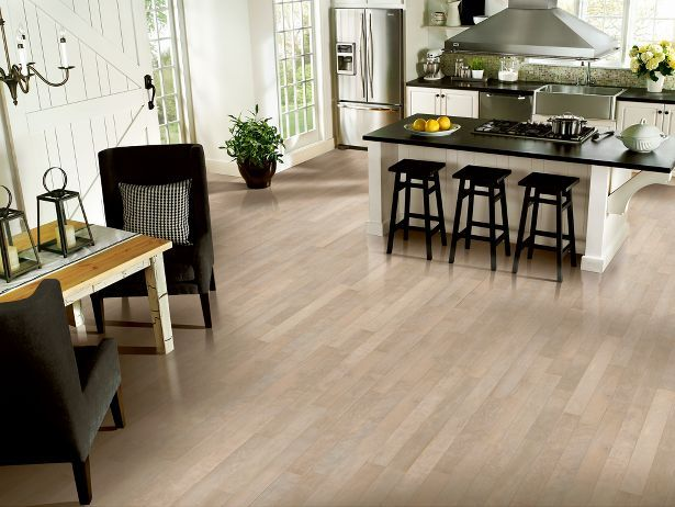 Armstrong birch driftscape white kitchen decor for Most popular flooring in new homes