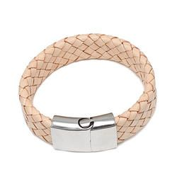 Braided Leather Id Bracelet