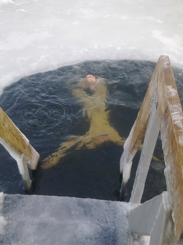 Going for a winter swim...