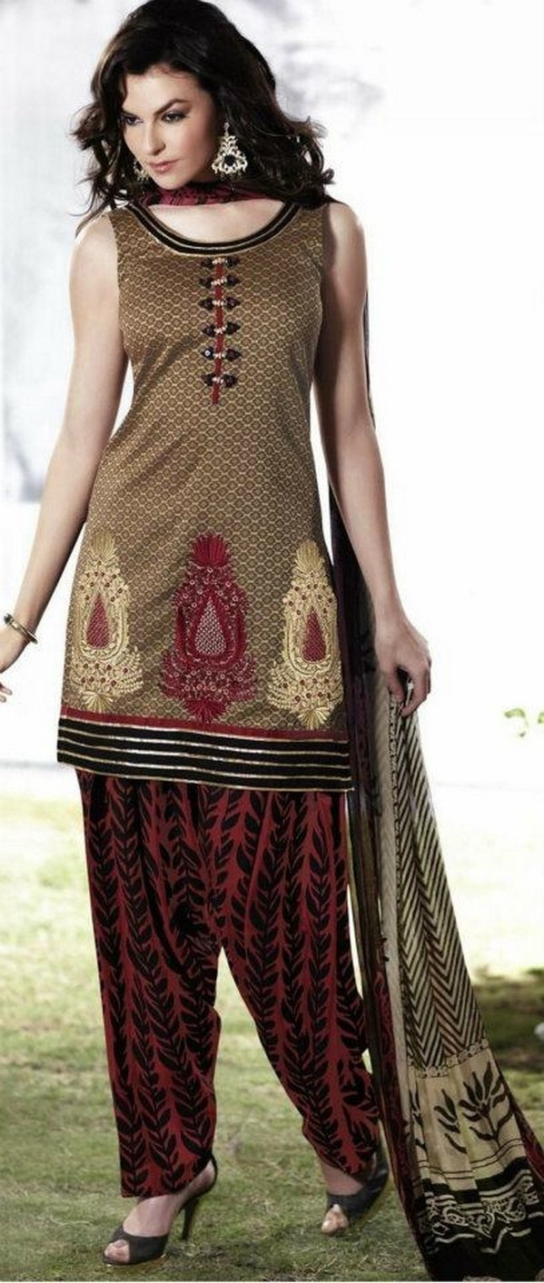 New Ready Made Chudidar Pattiala Suits 2012 - 2013