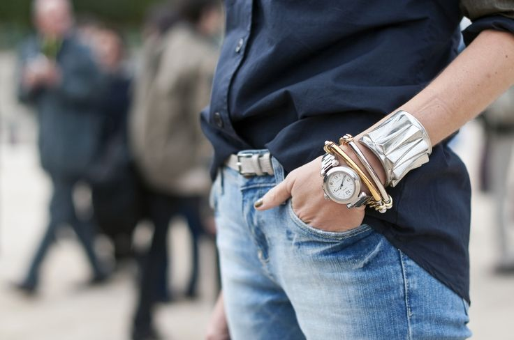 fashion week - bracelets + cuffs: Arm Candy, Blue, Bracelets, Fashion Accessories, Boyfriends Jeans, Navy, Cuffs, Mixed Metals, Arm Parties