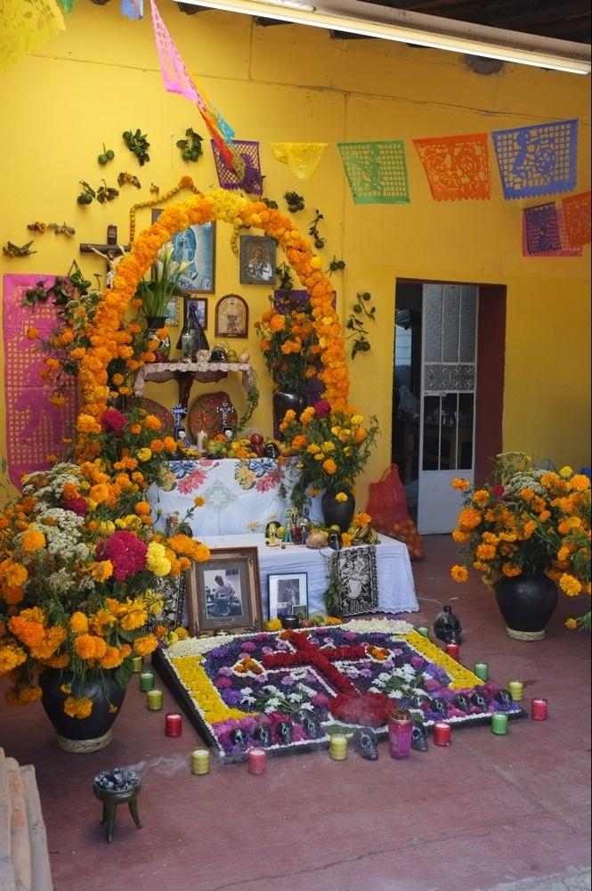 An altar for Dia de los Muertos...
