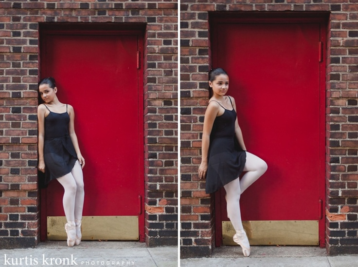 pointe shoes - poses in a doorway