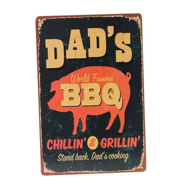 BBQ Tin Sign Retro Vintage Metal Plaque Bar Pub Home Wall Decor