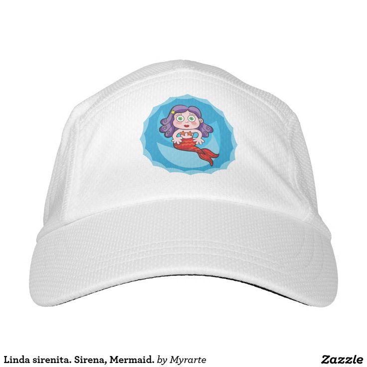 Linda sirenita. Sirena, Mermaid. Producto disponible en tienda Zazzle. Accesorios, moda. Product available in Zazzle store. Fashion Accessories. Regalos, Gifts. Link to product: http://www.zazzle.com/linda_sirenita_sirena_mermaid_headsweats_hat-256730195223707850?CMPN=shareicon&lang=en&social=true&rf=238167879144476949 #gorra #hat #sirena #mermaid