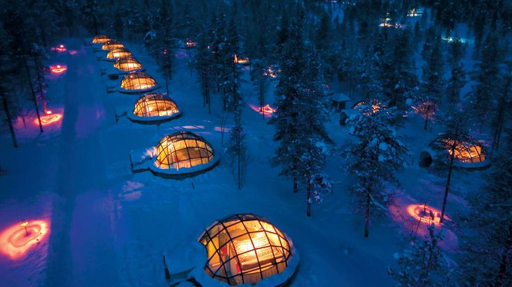 A Finnish hotel has unique thermal glass igloos that offer some of the most stunning views of the Northern Lights.