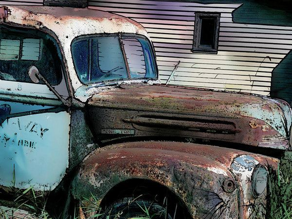 Ford Tough Art Print by Leslie Montgomery.