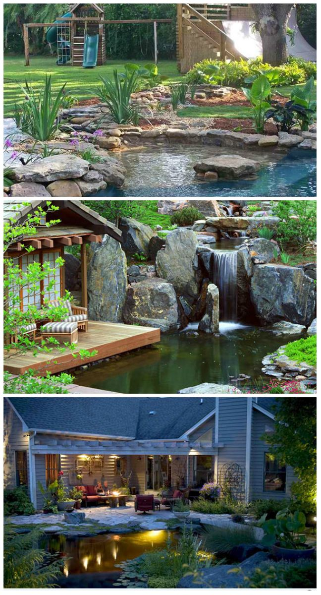15 Pond Landscaping Designs for Your Garden      Our yard can be given more life by creating a lovely landscape in it. There are so many ways to do it just like adding pathways, plants of different types, outdoor structures like a pergola, water features, and others. Speaking of water...