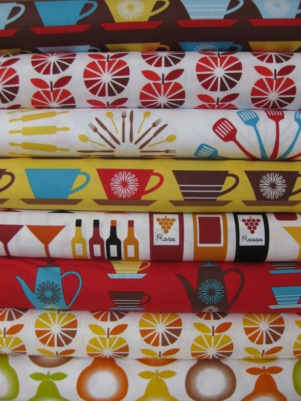 Retro kitchen fabric | VINTAGE-Any and everything | Pinterest