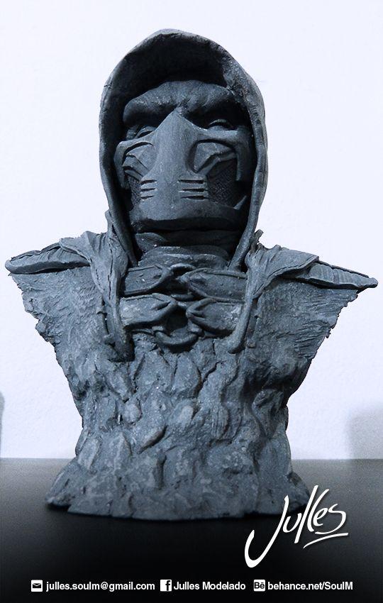 Busto de Scorpion en arcilla polimerica