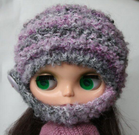 Blythe hat Lilac grey hat for Blythe doll by VolnaDollsClother