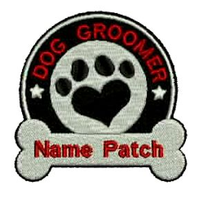 Dog Groomer Custom Embroidered Patch, $5.99. FREE SHIPPING!