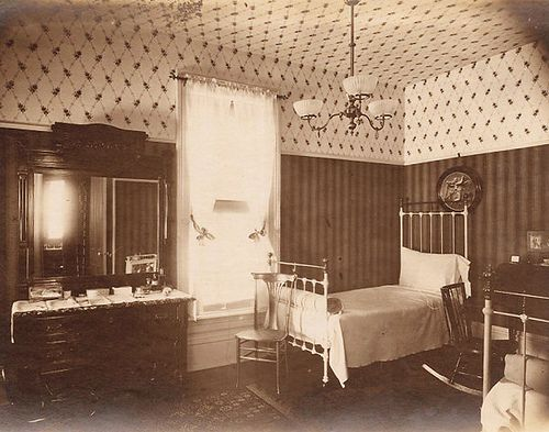 Bedroom interior 1900's