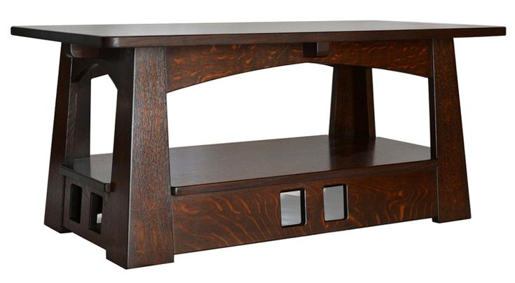 Pagoda coffee table all craftsman style furniture by for Mission style furniture
