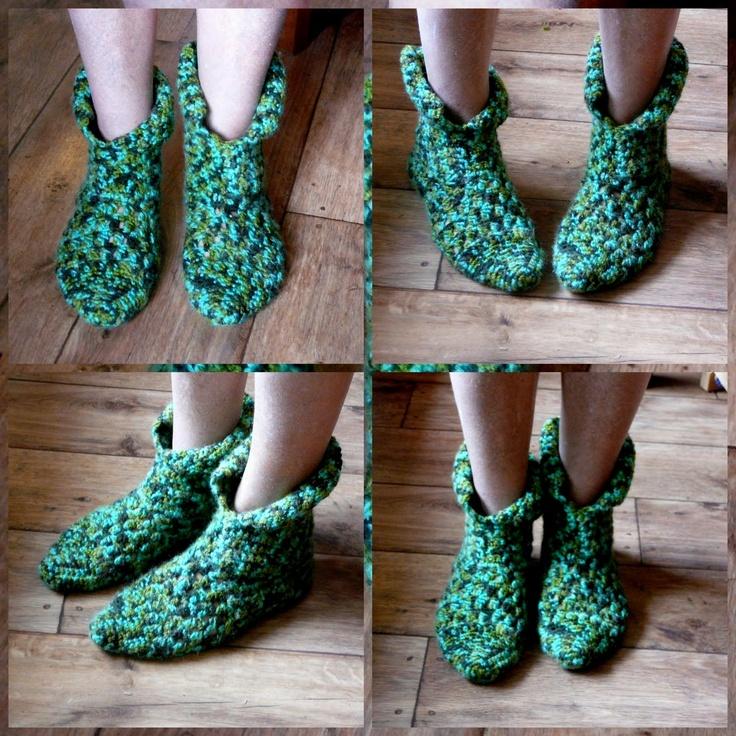 LINDEVROUWSWEB: Gehaakte Sloffen - Crochet Slippers